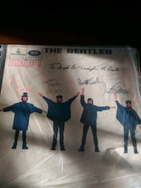 The Beatles HELP record with ALL FOUR signatures Los Angeles, 90024