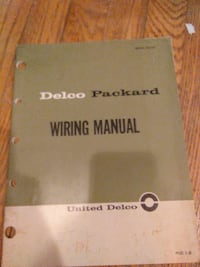 Delco Packard wiring manual Baltimore, 21234