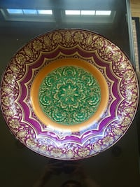 round brown and purple decorative plate Great Falls, 22066