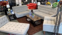 With run and tables!! Complete living room set No credit needed!! Only 5$ down gets you delivered!! #869