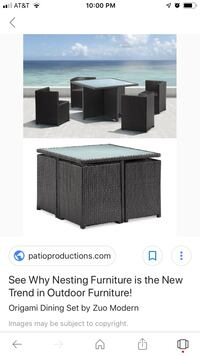 5 piece patio table with cushions  Springdale, 20774