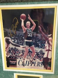 Signed poster by Larry Bird .. it is authentic.. Newport Beach, 92663