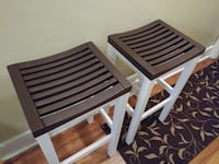 two brown wooden folding chairs Frederick