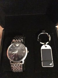 New Men's Emporio Armani Stainless Steel Watch with key chain Bossier City