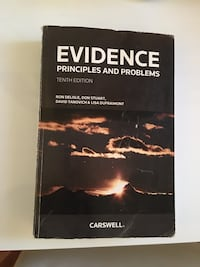 Evidence Law book Toronto, M9R 2R9