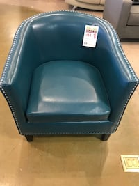 Turquoise Accent Chair With Nailhead  Phoenix, 85018