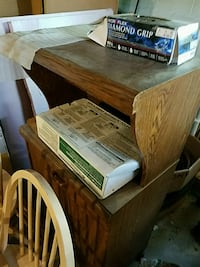 brown wooden microwave table Asheville, 28805