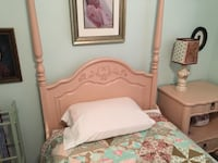 Pink twin bed and nightstand, mattress included Birmingham, 35233