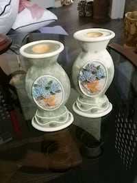 Set of 2 vintage hand painted candle holders Laval, H7G 2W7