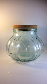 Pier 1 imports-widemouth glass jar with cork lid