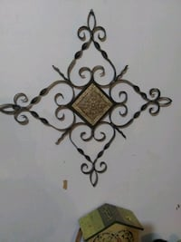 LARGE BLACK WROUGHT IRON WALL DECORATION