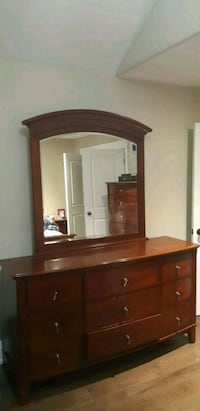 brown wooden dresser with mirror Innisfil, L9S 4K2