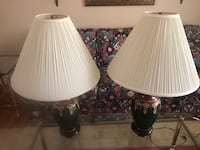 Decorative Burgundy & Green Lamps