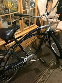 "Schwinn Jaguar 26"" Cruiser Bike Mens Blue Grey 7 SPD   Minneapolis, 55404"