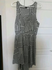 Black/white geometric hi-low dress Calgary, T3N 0E4