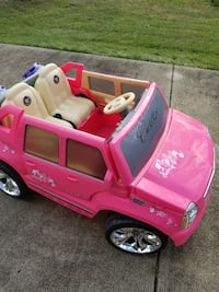 pink Cadillac ride-on toy car