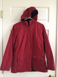 Red full-zip hoodie jacket