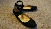 pair of black leather pointed-toe flats Arlington, 22202