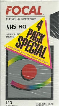 4 PackNEW VHS 120s Focal 4 Pack Special  4 new sealed vhs 120 min vhs