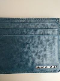 Blue Burberry leather card holder
