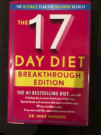 The 17 Day Diet by Dr. Mike MOreno book Vancouver, V6H 2L3