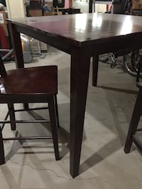 Dark brown wooden pub table with four chairs Spring Hill, 37174