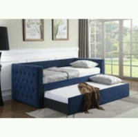Navy Blue daybed with trundle ( new ) Hayward