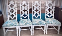 4 Mid Century Solid Wood Throne Dining Chairs Completely REFINISHED!!! North Las Vegas, 89081