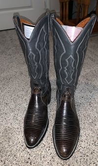 Western Boots J Chisholm made in USA Lizzard Skin size 10  Las Vegas, 89123