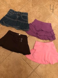 Various skirts for girls size 4  Brampton