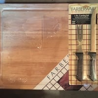 Farberware  cutting board and carving set. Salem, 03079