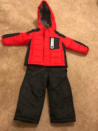 Red and black zip-up Oshkosh snow jacket and bib. Unisex new size 3T and L7 negotiable! Lake Forest, 92630