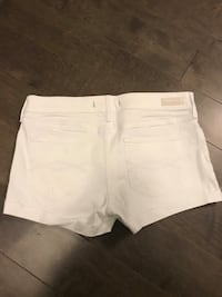 Abercrombie and Fitch White Denim Shorts- Brand New S:26