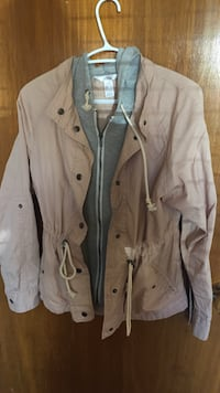 Blush double layer jacket with hood Vancouver, V6M 2E5