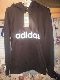 black and white Adidas pullover hoodie West Kelowna, V4T 2E9