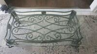 Iron metal glass top coffee table & End Tables Whitby, L1M 2N9