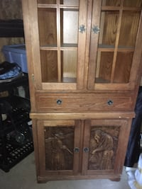 Brown wooden cabinet with drawer Sainte-Adèle