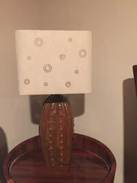 Glass table lamp ( new)