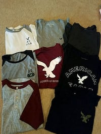 8 for $20...men's short sleeve American Eagle shirts, XS