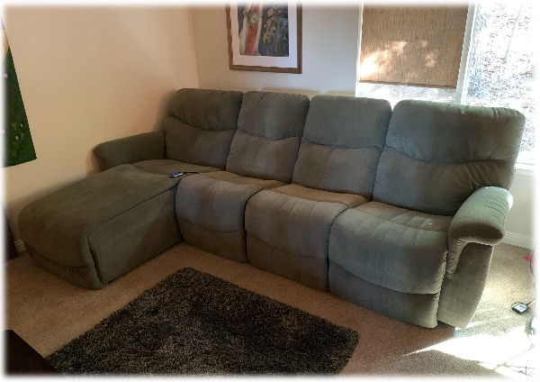 Used 4 seating LAZY BOY reclining sofa with chaise for sale ...