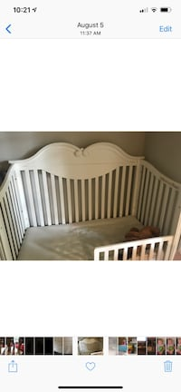 baby's white wooden crib Wake Forest, 27587
