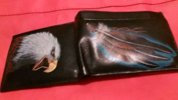 NATIVE  HAND  PAINTED  MENS  WALLET