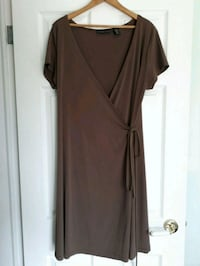 Size Large Brown Wrap Dress  great condition