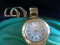 round silver-colored analog watch with link bracelet Hayward, 94544