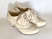 pair of white leather wingtip oxford shoes Houston, 77057