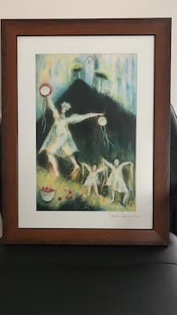 Limited Edition Signed and Numbered Lithograph by Jackie Schaefer Framed Wall Art Painting Farmington Hills, 48336