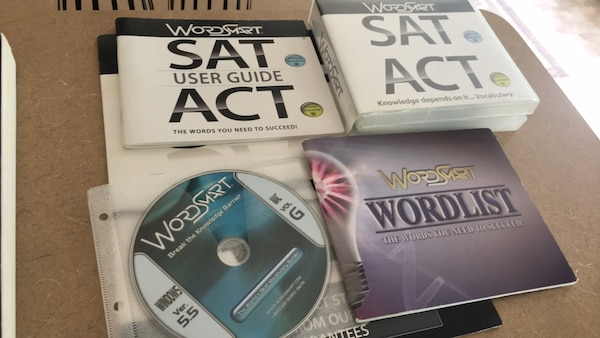 Wordsmart ACT and SAT study guide pack.