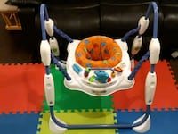 baby's white and blue jumperoo Markham, L3R 8S1