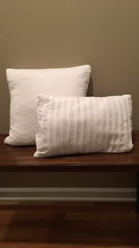 Brand new white decorative pillows; Never used; Smoke-Free & pet-free home. Chicago, 60630