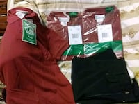 brown and green polo shirts Central, 70739